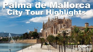 Videos van steden en landen als ecard, Palma de Mallorca is the capital city on the..
