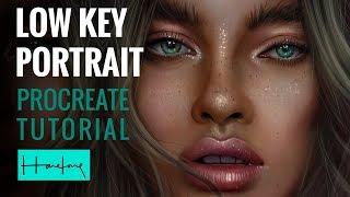Low Key portrait tutorial on Procreate iPad by Haze Long