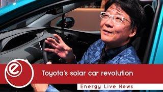 Koji Toyoshima reveals the new solar powered Prius