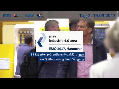 industrie 4.0 Area auf der EMO Hannover - Tag 2, 19.09.2017