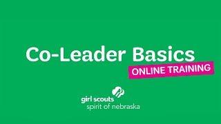 Co-Leader Basics Training