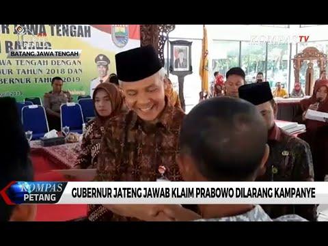 Gubernur Jateng Jawab Klaim Prabowo Dilarang Kampanye