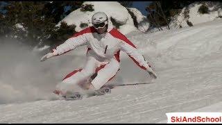 Смотреть онлайн Упражнения для правильного карвинга на горных лыжах
