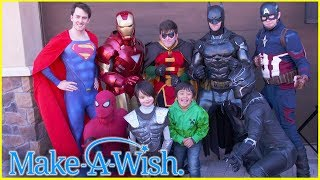 Ryan Surprises Johnny at his End of Chemo Party With Make a Wish!!