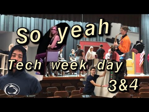 So yeah tech week day 3 and 4 | 12 angry jurors| stage crew
