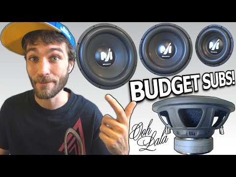 Budget BANGIN Subwoofers! 10″ 12″ & 15 inch Deaf Bonce MACHETE | Cheap Car Audio Subwoofer Review