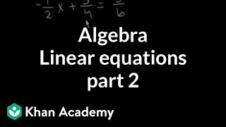Algebra: Linear Equations 2