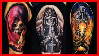 BEST DEATH TATTOOS FOR MEN 2018   LIFE AND DEATH TATTOOS WOMEN   COOL GRIM REAPER TATTOOS TIME LAPSE