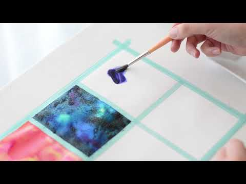 como pintar texturas con acuarelas