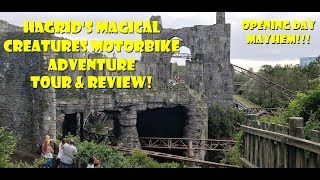 Hagrids Magical Creatures Motorbike Adventure OPENING DAY MAYHEM / Tour & Review Universal Orlando