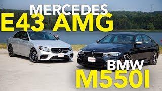 2017 Mercedes-Benz E43 AMG vs 2018 BMW M550i Comparison Review