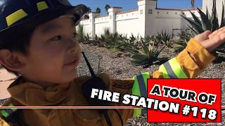 What's inside a fire truck? What do firefighters do? Let's Tour Fire Station 118 | Ezra's Channel