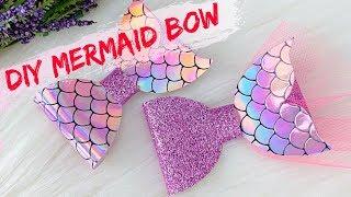 DIY Mermaid Bow // How To Make Bows // Handmade Hair Bow Tutorial // Hair Bows // Miss O Crafts