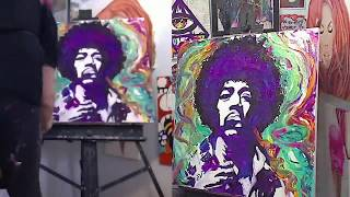 Jimi Hendrix Speed Painting