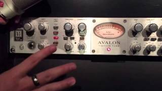 Basic Avalon 737 Setup for Vocal Input Compression