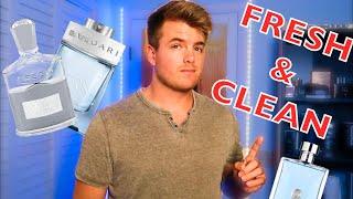 10 BEST Fresh Fragrances For Men | Best Clean Colognes | After Shower Fragrance
