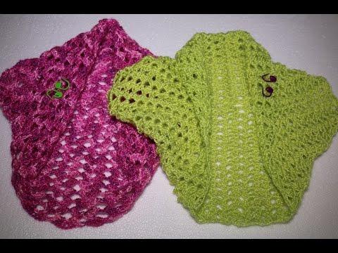 Como hacer una torera o bolero en 3 pasos en crochet