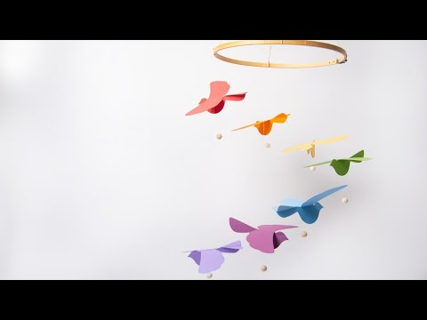 How to Make a Rainbow Bird Mobile - Ellison Education