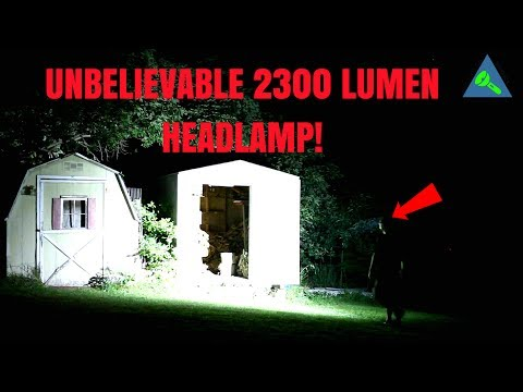 UNBELIEVABLE!  2,300 Lumen Head Lamp!