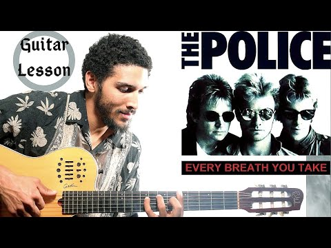 every breath you take - the police guitar lesson (tutorial) how to play the main riff w/ notes