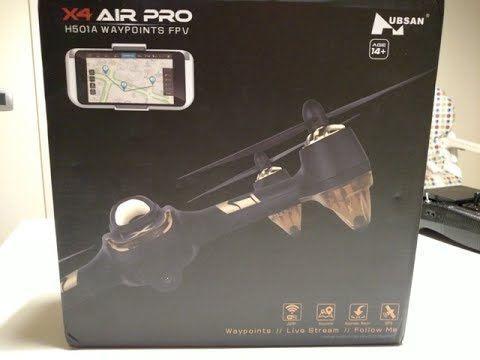 H501A X Air Pro Waypoints FPV unboxing (courtesy banggood) - Scopriamo l\'H501A - ITA - ENG
