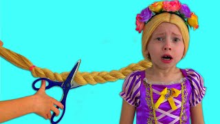 Alice as a Rapunzel plays in her Princess Room | Bedtime Stories