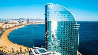 BARCELONA - SPAIN. Best Travel Destination In Europe. DJI Mavic Drone Aerial Footage 4k.