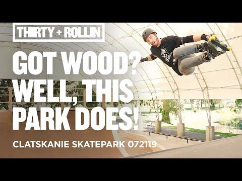 Got wood? Well, this park does! | Clatskanie Skatepark 072119 | Aggressive Inline Skating
