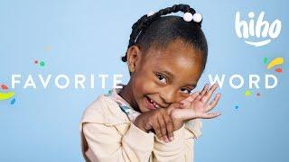 100 Kids Tell Us Their Favorite Word | 100 Kids | HiHo Kids