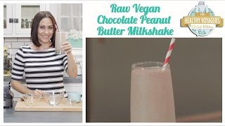 Raw Vegan Chocolate Peanut Butter Milkshake