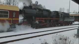preview picture of video 'Reichsbahn Dampflok 52 8080-5 Abschied Bautzen-Löbau + der Rest vom Bahnbetriebswerk Bautzen'