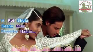 Mera Dil Tere Liye Hindi karaoke for Male singers with lyrics