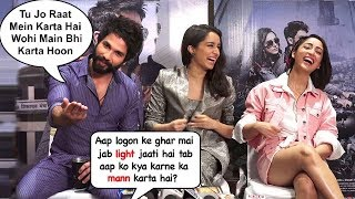 Shahid & Shraddha Kapoor TROLLS Reporter Asking Embarrassing Questions At Batti Gul Meter Chalu