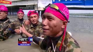 Ribuan Prajurit Marinir Lintasi Selat Madura - NET16