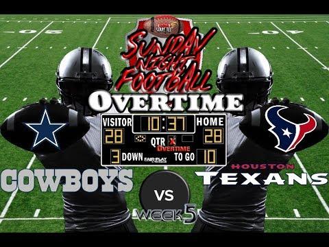 NFL Week 5 | Dallas Cowboys vs. Houston Texans | SNF OVERTIME🏈🏈🏈 #LouieTeeLive