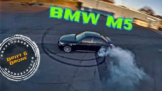 Drifting BMW M5 chased by FPV Racing Drone | Burnout & Drift