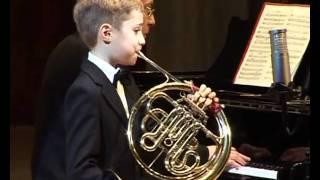 Danila Galouza, 8 years old, french horn