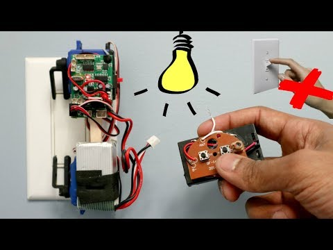 Automatic ON and OFF Light Switch   Remote light switch Crazy Invention