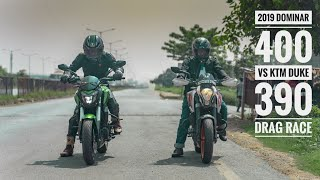 2019 Bajaj Dominar 400 VS 2013 KTM Duke 390 Drag Race