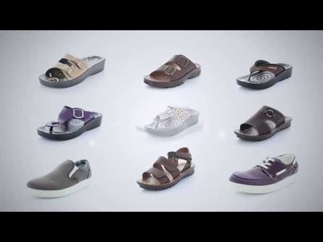New! Aerosoft Footwear Orthodic Leather Sandals