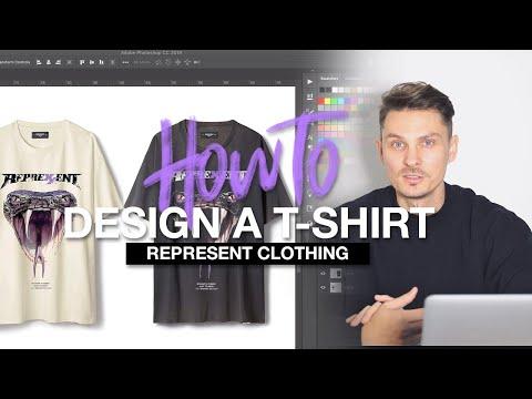 Ich baue ein REPRESENT Clothing T-Shirt in Photoshop nach.