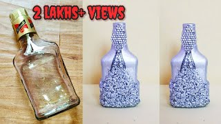 DIY   Best Out Of Waste Craft Ideas   Bottle Craft Ideas   Decorated Whisky Bottle