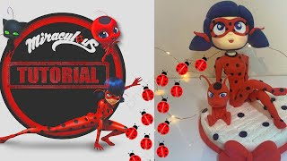 LADY BUG AND TIKI FULL (MIRACULOUS) TUTORIAL | CAKE TOPPER  | CLAY | FONDANT | COLD PORCELAIN