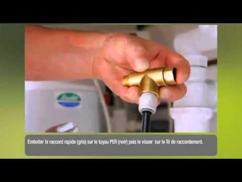 Installation du mitigeur d'évier avec cartouche filtrante Carafe