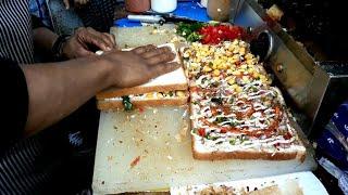 STREET FOOD    Veg Sandwich Making    Indian Street Food    Sandwich Recipe