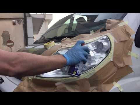 Vernice spray per fari auto - come rinnovare i fanali ingialliti dell'auto