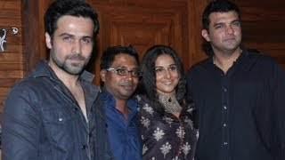 Emraan Hashmi, Vidya Balan And Siddharth Roy Kapur At The 'Ghanchakkar' Wrap-up Party