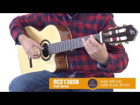 ORTEGA RCE138SN-L Levoruká elektroakustická klasická kytara