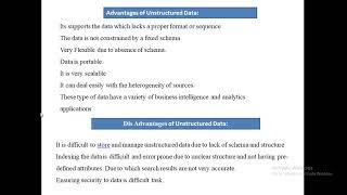 Unstructured data using Hadoop
