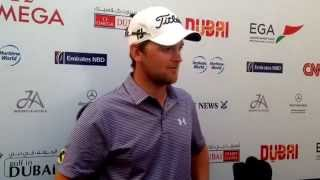 Bernd Wiesberger after his first round -8 at the 2015 Omega Dubai Desert Classic